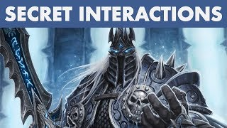 Hearthstone SECRET INTERACTIONS of The Lich King | Knights of the Frozen Throne