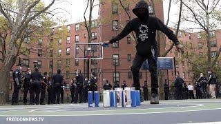 Vigil for Rapper Kiing Shooter Spills into Queensbridge Park Prompting Shutdown and Arrests