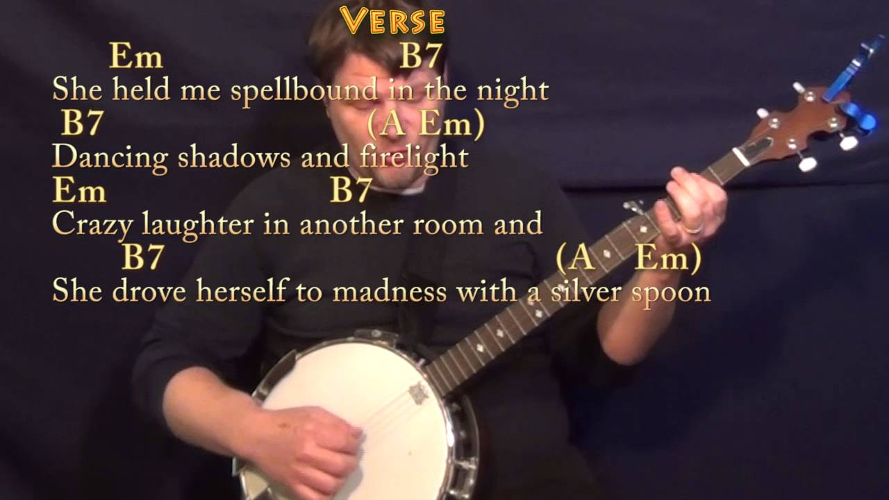 Witchy woman the eagles banjo cover lesson in em with chords witchy woman the eagles banjo cover lesson in em with chordslyrics hexwebz Images