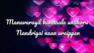 Intha mamanoda manasu song lyrics| Download 👇 | Uththama rasa | Tamil whatsapp status | RJ status