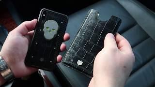 Чехол для телефона из натуральной кожи крокодила. Jumo Leather Pocket.