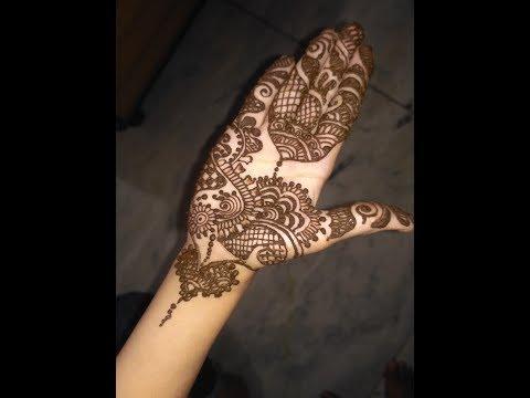 Latest||Elegant Arabic Heena Mehndi Designs For Hands 2017 Step By Step