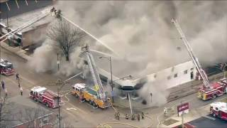 Firefighters battle blaze at historic Elmhurst bridal shop, Elmhurst Illinois | firefighting