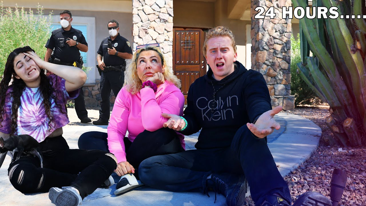 Download LOCKED OUTSIDE OUR HOUSE FOR 24 HOURS - kicked out by cops