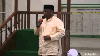 Sholat Isya dan Tarwih Bersama Gubernur Gorontalo dan Bupati Pohuwato di Mesjid Agung Kab  Pohuwato