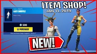Fortnite Item Shop *NEW* LAZY SHUFFLE Emote! (January 11th, 2019) - Fortnite Battle Royale