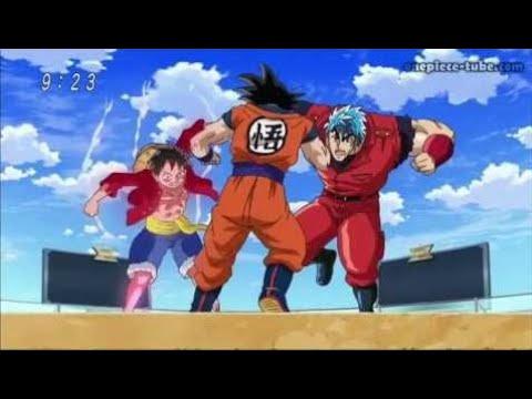 Der Kampf Giganten Son GokuTorikoRuffyMrSatan
