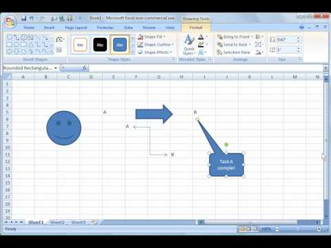 Excel 2007 Tutorial 19 Drawing Youtube
