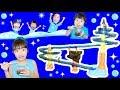 ★「流しそうめんリレー!」3代目は全長5m~!!★Slider Nagasi Somen relay★