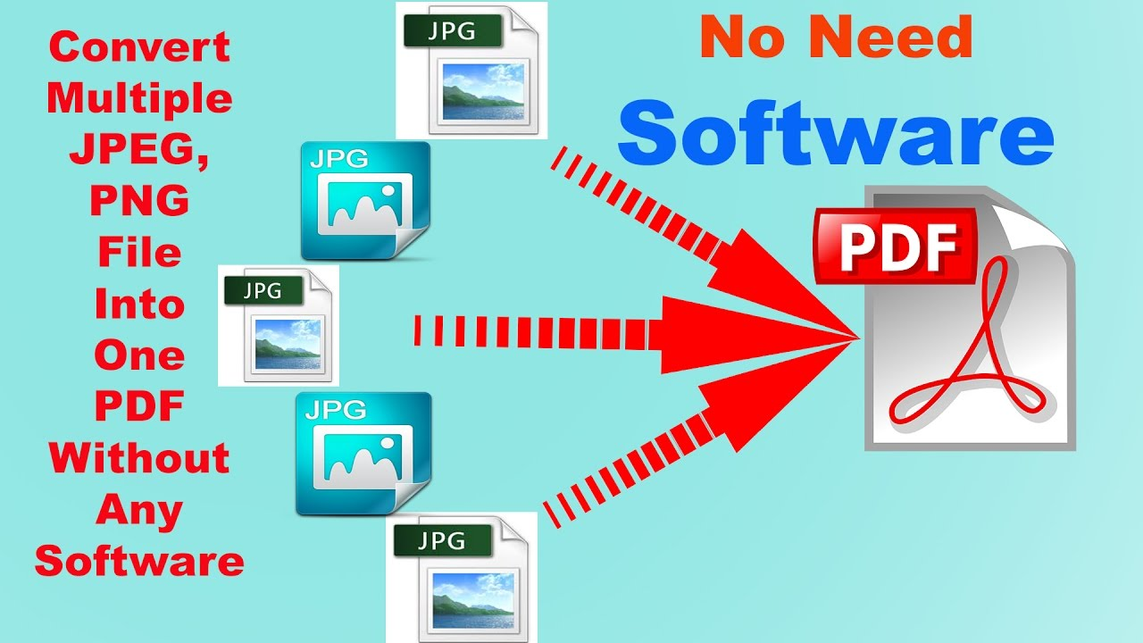 How to Convert Multiple JPG files Into one PDF without any ...