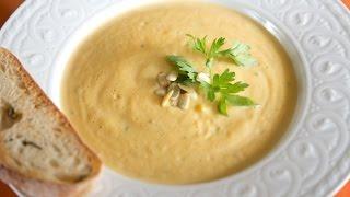 roasted pumpkin soup/суп из запеченной тыквы