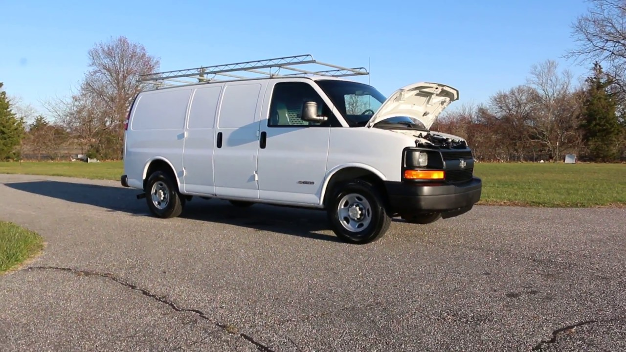 2006 Chevrolet Express 2500 Cargo Van For 4 8l Bins And Racks Custom Sterio