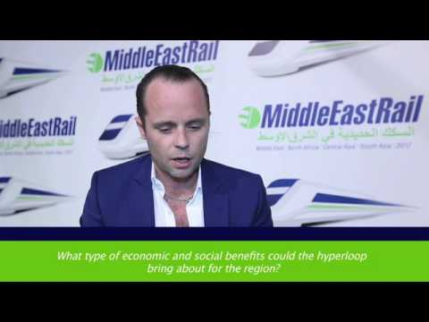 Interview with Hyperloop One at Middle East Rail 2017