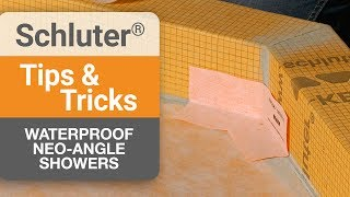 Waterproofing a Neo-Angle Shower with KERDI-BAND