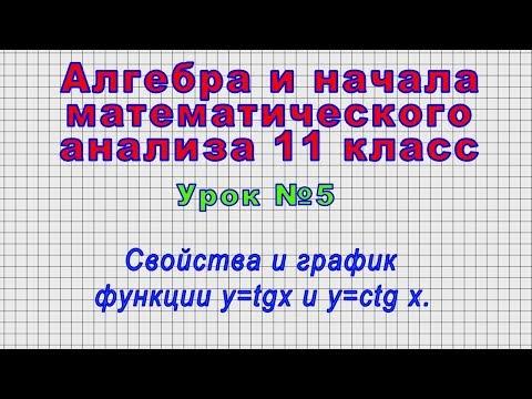 Алгебра 11 класс (Урок№5 - Свойства и график функции Y=tgx и Y=ctg X.)