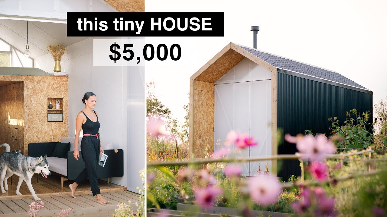 Our FIRST HOUSE for $5,000 | ep 23 OFF GRID MODERN TINY HOUSE, finishing interior details