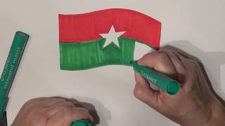 Learn geography for kids How to draw a flag Burkina faso