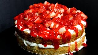 Quick And Easy Strawberry Angel Food Cake