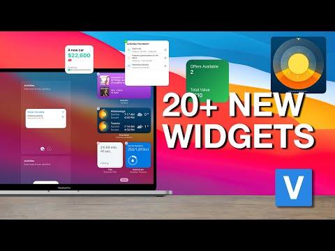 20+ New Widgets on MacOS: Big Sur