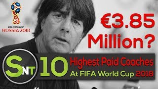 Top 10 Highest Paid Football Coaches In The World Cup 2018 | Highest Paid Football Coach Salary 2018