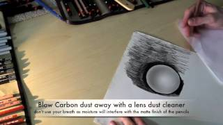 How to get Pure Black Background to Graphite Pictures using Carbon Pencils