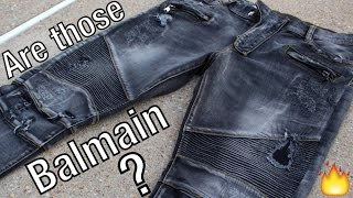 are those balmain jeans   truth logic jeans unboxing   review   on body fit