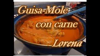 GUISA-MOLE SENCILLO - GUISADO CON POLLO - receta personal - Lorena Lara thumbnail