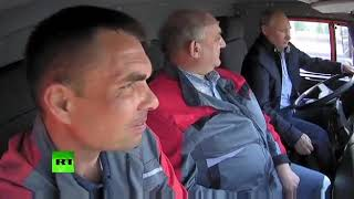 Путин на камазе прикол