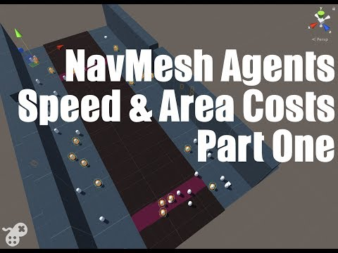 Unity NavMesh Area Costs and Agent Speeds Part 1