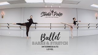 Studio Pulse Jr/Sr level: Intermediate Ballet Barre & Stretch - 37 min