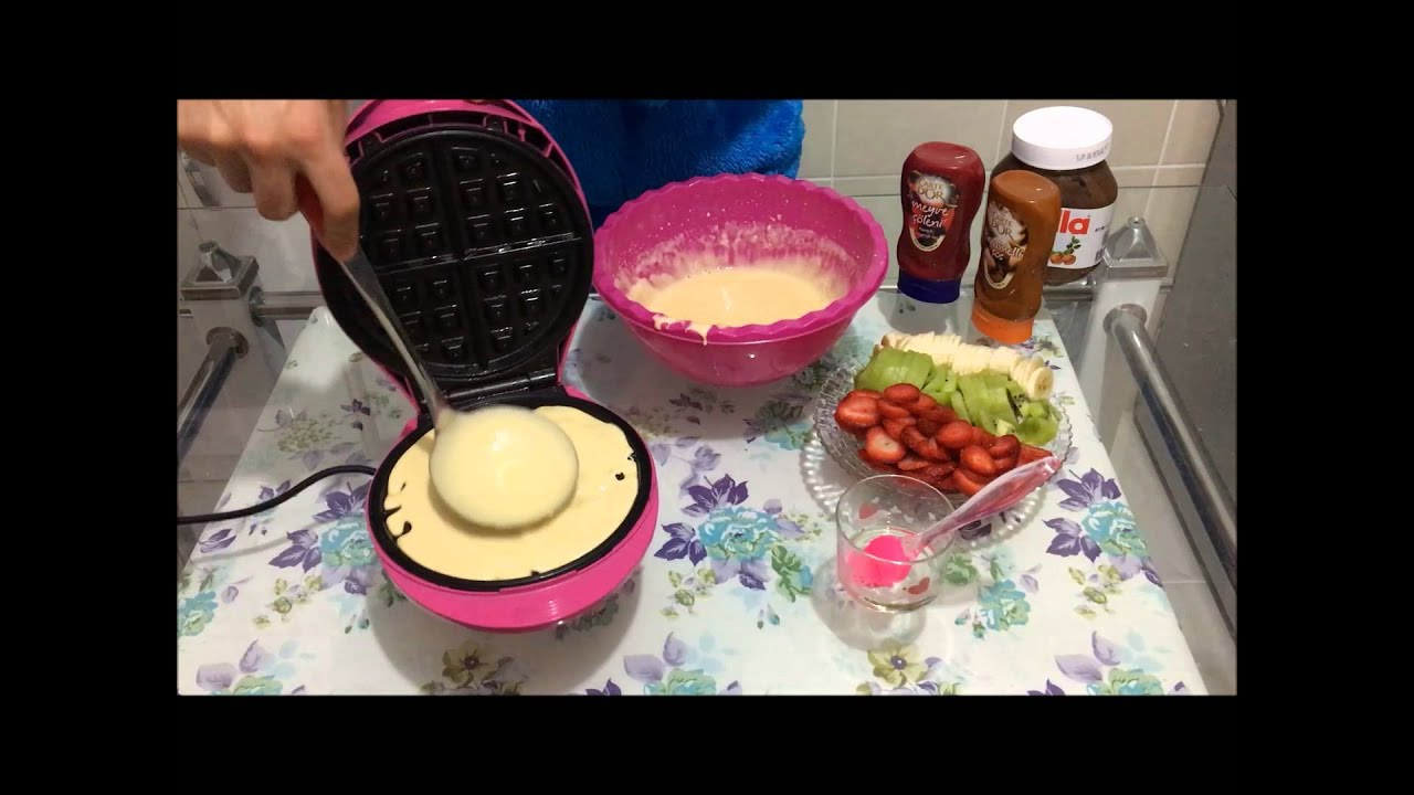 Evde Waffle Nasıl Yapılır Videosu