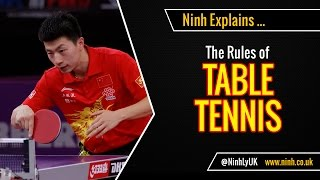 The Rules of Table Tennis (Ping Pong) - EXPLAINED!