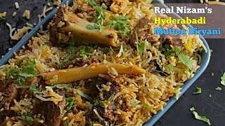 Real Mutton Dum Biryani | నిజమైన హైదరాబాది మటన్ బిర్యాని | 500 Years Old Style Mutton Dum Biryani