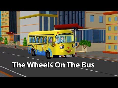 The Wheels On The Bus/ Bài hát về xe buýt - 3D - English for kids