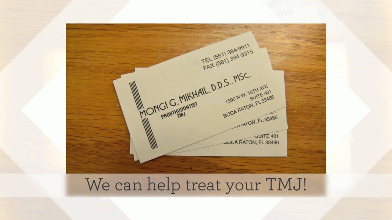 Seeking TMJ Treatment in Boca Raton? | Dr. Mongi Mikhail, D.D.S ...