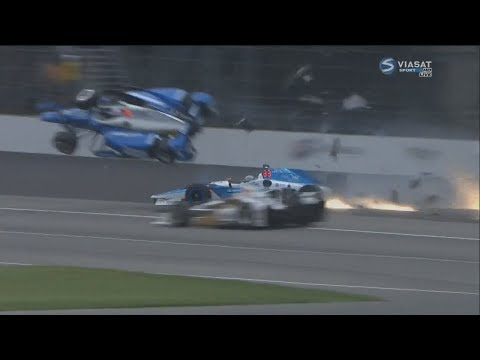 IndyCar Series 2017. All Crashes Compilation