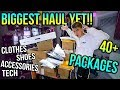 Unboxing 40+ Packages of STREETWEAR and TECH! (MY BIGGEST HAUL EVER!!!)