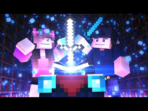 MINECRAFT GIRLFRIEND - ENCHANTING OUR DIAMOND SWORDS! (Minecraft Love Survival)
