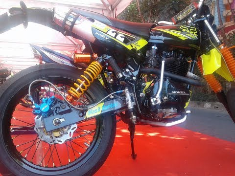 Kontes Modifikasi Honda GL Custom Supermoto Style