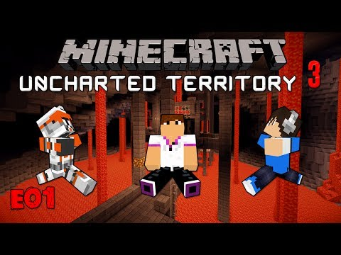 Minecraft Uncharted Territory III: Ε01 - Η αρχή των ηρώων w/CaptainPanez & Gfantom