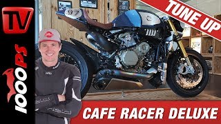 Cafe Racer Deluxe - Panigale R als Basis für 'The Blue Shark' - Betriebsprüfung Parts World
