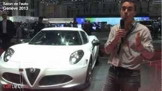 Alpha Roméo 4C : salon de l'auto Genève 2013