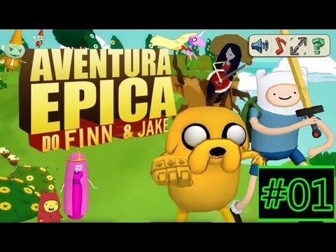 Aventura Epica Do Finn & Jake #01 / Indo ate o mapa ...