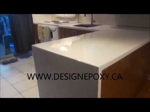 countertop tile resurfacing countertops the over existing poured this kit epoxy our get on diy a was