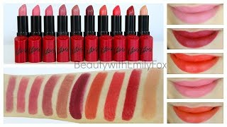 Rimmel Lasting Finish by Kate Moss Lipstick + Lip Swatches