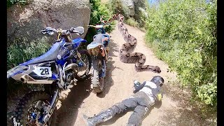 Attacked By 30FT Python Snake While Dirt Biking!!