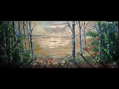Oil Painting Landscape tutorial part 1 by Aman Art