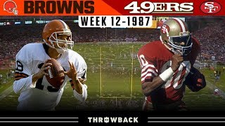 Legendary Teams Meet in Primetime! (Browns vs. 49ers 1987, Week 12)