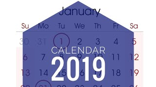 United States Calendar 2019
