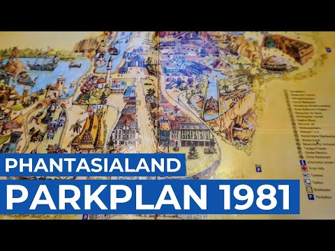 Phantasialand Park Karte.Phantasialand Parkplan 1981 Phantasialand Nostalgie